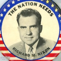 1960 Nixon campaign pin. Author's collection.