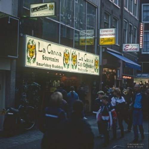 La Canna, Amsterdam's largest coffee shop at the time. Photo © William P. Diven