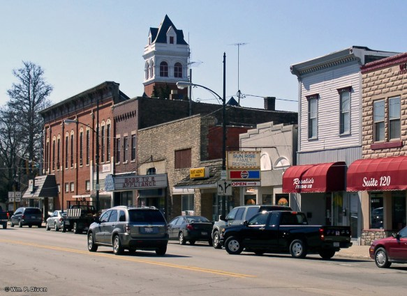 Downtown Oregon, Illinois, 2007.
