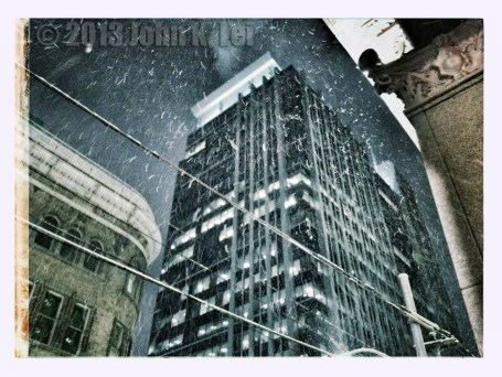 Snowfall at Yonge and Queen St.