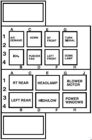 20062009 Ford LCF (Low Cab Forward) fuse diagram » Fuse