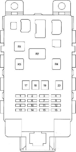 19992005 Toyota Yaris  Echo Fuse Box Diagram » Fuse Diagram