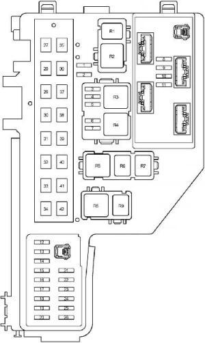 20032009 Toyota Prius (XW20) Fuse Box Diagram » Fuse Diagram