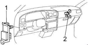 1993 Toyota Hilux, T100, Pickup Fuse Box Diagram » Fuse