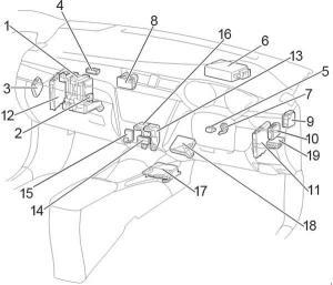 20092017 Toyota Avensis (T270) Fuse Box Diagram » Fuse