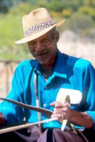 Sudáfrica, Karoo, De Rust, anciano campesino