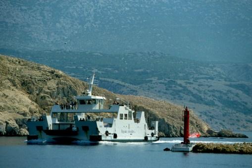 Croacia, isla de Rab, ciudad de Rab, ferry