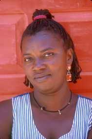 Cabo Verde, Isla de Sal.Vendedora del mercado, retrato
