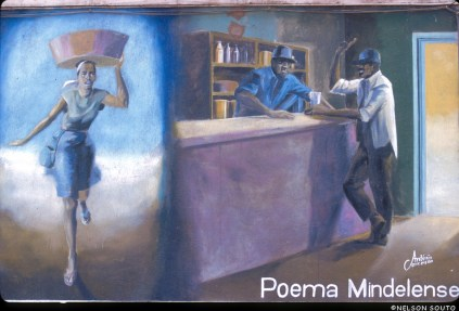 Cabo Verde, Isla San Vicente, Mindelo, pintura mural
