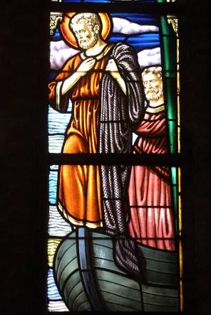 Flandes, Veurne, iglesia Santa Walburga, vidriera