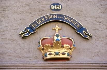 Alemania, Baja Sajonia, Wolfenbüttel, albergue la colonia de España, bajo relieve