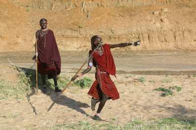 Kenya, Reserva Eselenkei, guerreros Masai