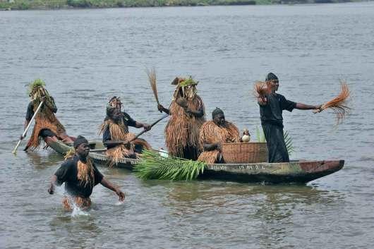 Camerún, Douala, fiesta popular