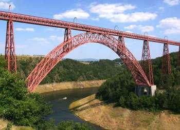 Viaduc de Garabit, Río de la Truyère, obra de Gustave Eiffel