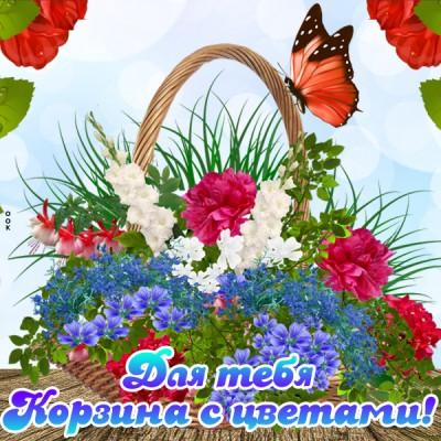 Картинка с цветами и пожеланиями
