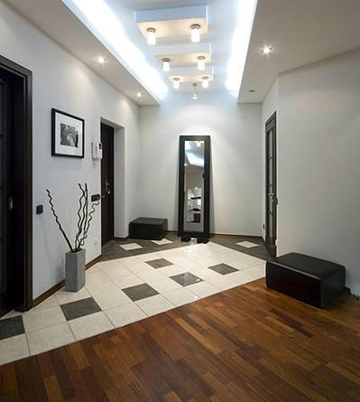 В коридоре плитка с ламинатом фото   Кафель и плитка