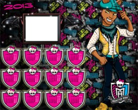 Calendarios para Fotomontajes. Almanaques 2013 Monster High