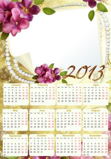 Calendario Romántico 2013. Calendarios Personalizados 2013