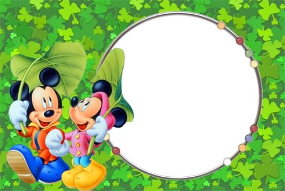 Fotomontajes Gratis. Marco para Fotos Mickey Mouse
