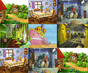 Fondos para Fotomontajes Infantiles.