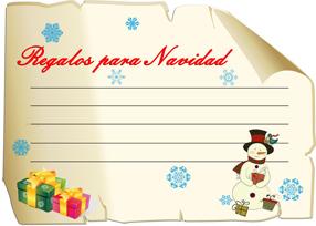 Manualidades Digitales. Carta a Papa Noel 2013