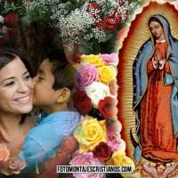 10 Modelos de fotomontajes con la Virgen de Guadalupe