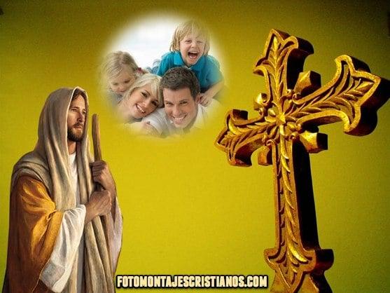 fotomontajes cristianos con jesus y la cruz