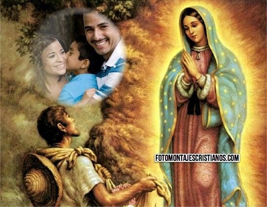 fotomontajes cristianos virgen de guadalupe