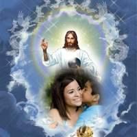 Fotomontaje de Jesús en el Cielo con tu foto