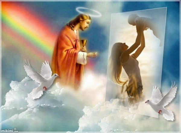 Fotomontaje de Jesus en el cuelo
