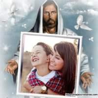 Marco de fotos cristianos con Jesús
