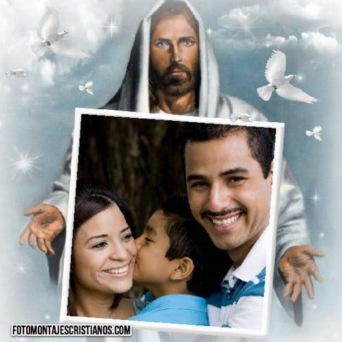 fotomontaje de jesus con tu foto