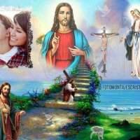 Fotomontajes cristianos con imágenes religiosas