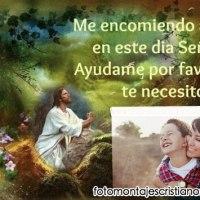 Fotomontaje cristiano de Jesús con frase