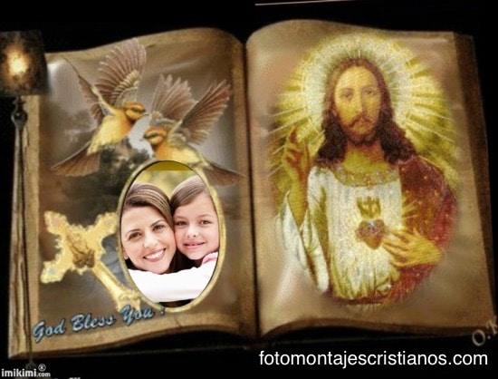 Fotomontajes de Jesús con bendiciones