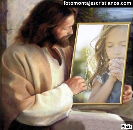 fotomontajes de jesus mirandome