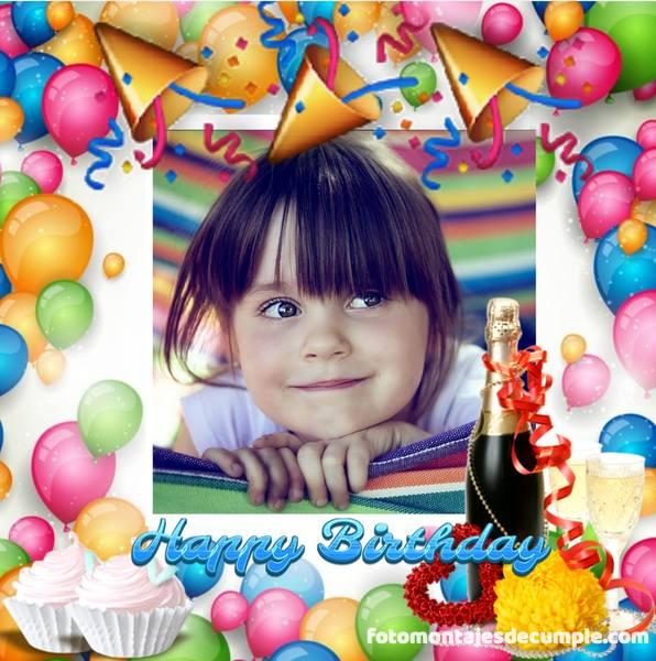 fotomontajes de cumpleaños con globos