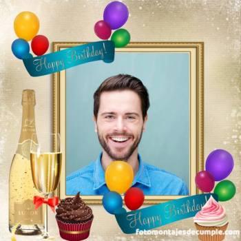 Fotomontajes de cumpleaños para hombres