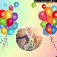Fotomontajes de cumpleaños coloridos