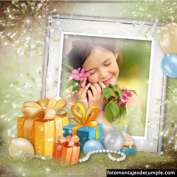 Fotomontajes de cumpleaños elegantes