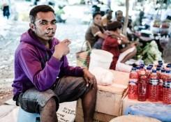 Mercado en Timor Occidental, Indonesia.