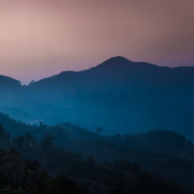 nepal colina montaña