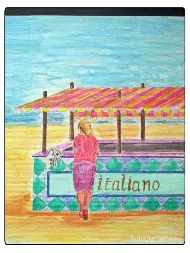 strooitekening strand Anita B.