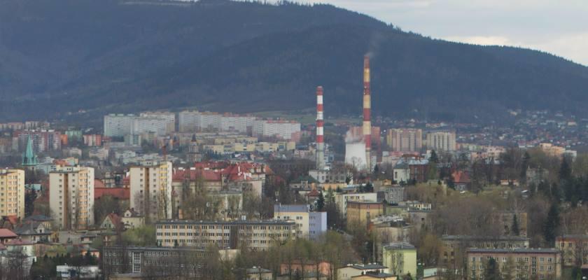 Bielsko-Biała - widok ze wzgórza Trzy Lipki