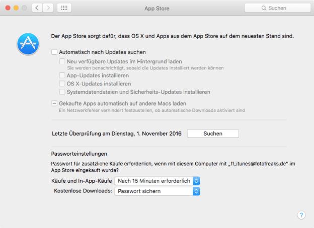 Systemeinstellungen > App-Store