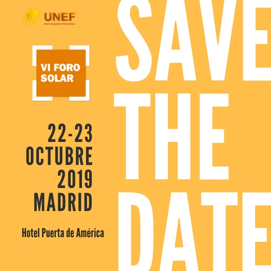 VI Foro Solar - Save the date 07-03-2019