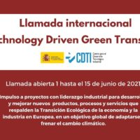 "Llamada internacional ""Technology Driven Green Transition"""