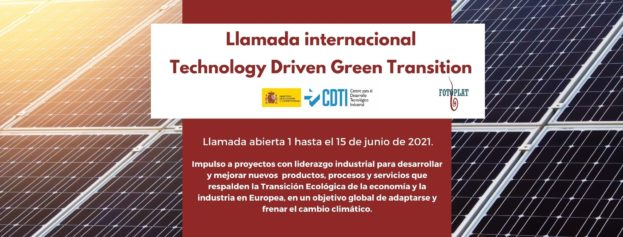 "Llamada internacional ""Technology Driven Green Transition"""