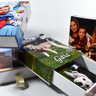 Empaque Creativo para Regalo Personalizado + 100 Fotografías Impresas 135 Gr. Brillante Delgado 9×13 cms (Pequeño) + Envío Nacional Gratis