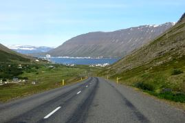 w drodze do Ísafjörður